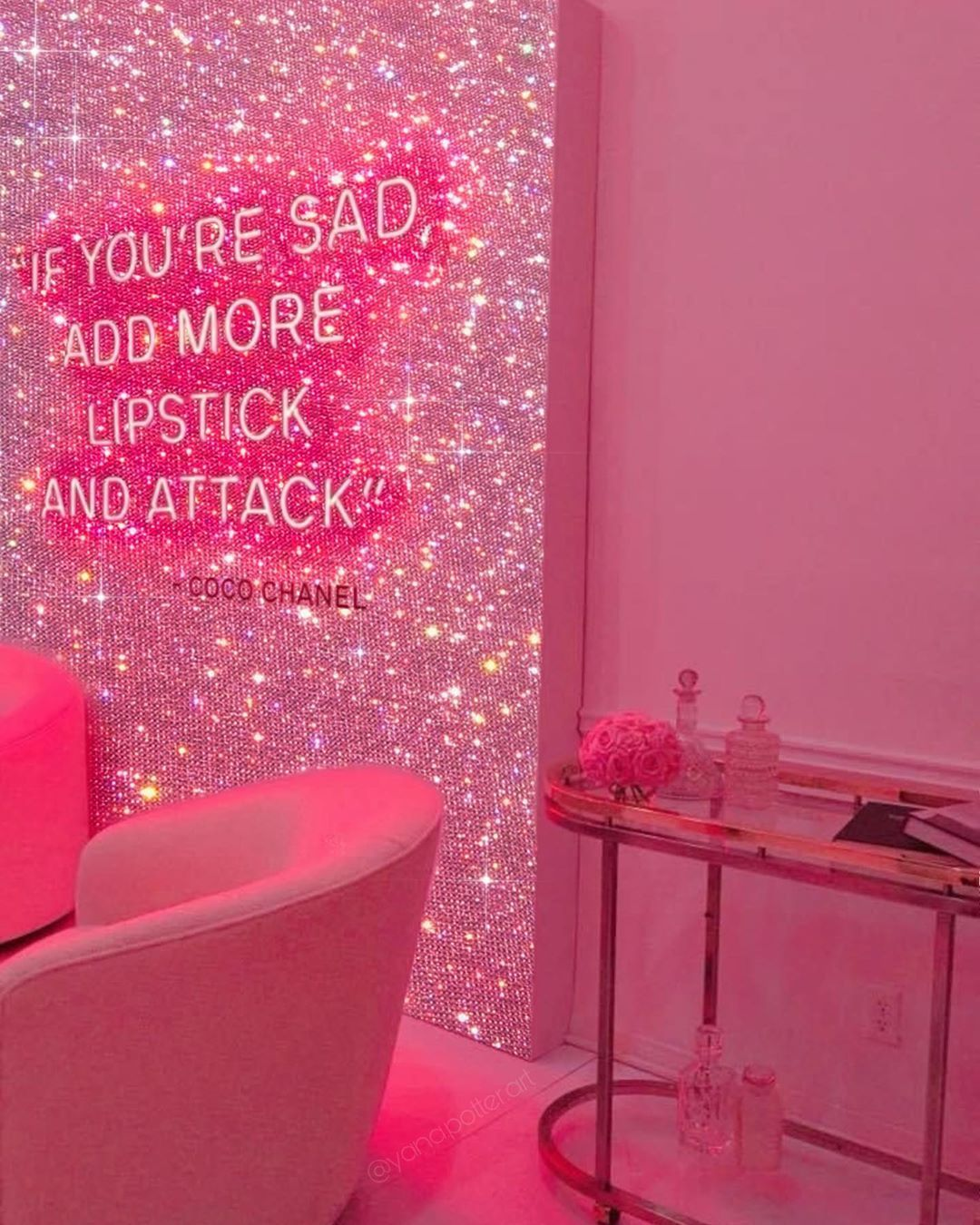 Wall Collage Pink Aesthetic