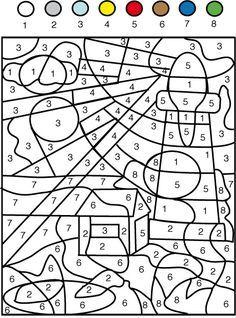 jeu de coloriage numéroté chiffres et mer n 1 coloriage