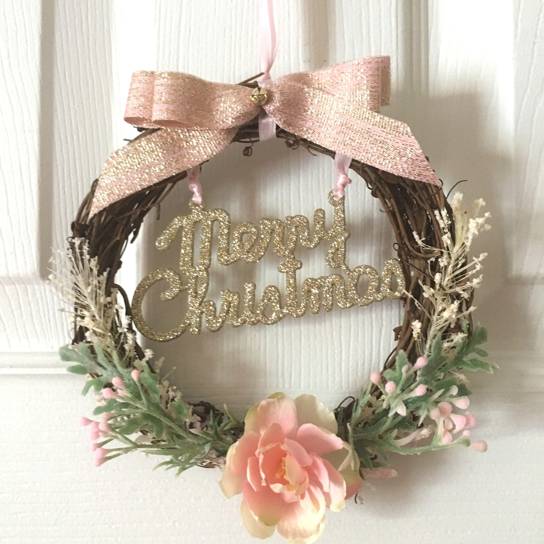 Photo of Boho Wreath/Modern Wreath/Christmas Wreath/Blush Pink Wreath/Farmhouse Wreath/Merry Christmad Wreath/Rustic Wreath/Modern Christmas/Bedroom