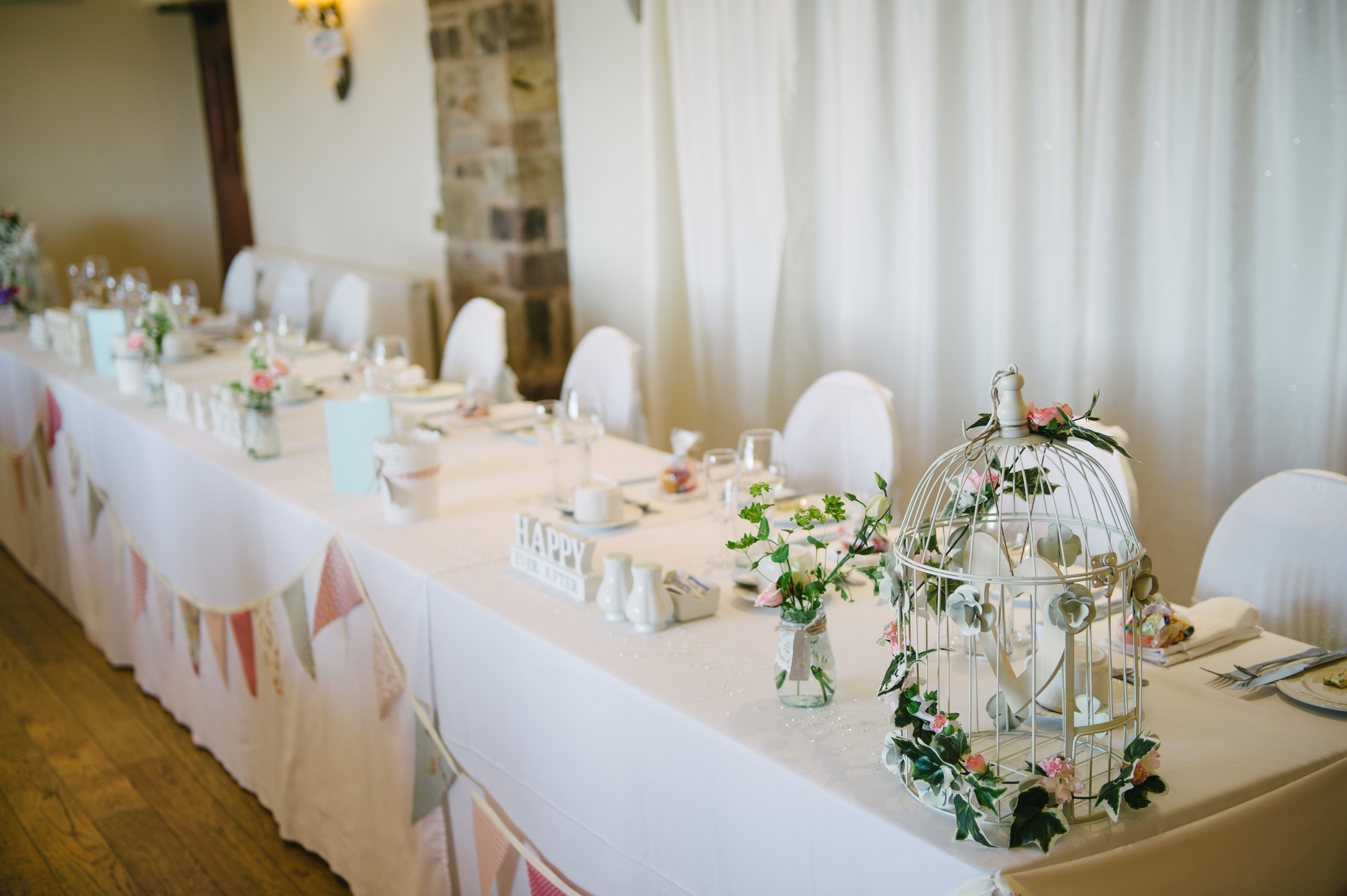 top table decoration ideas. Top Table Ideas #bunting #birdcages Decoration N