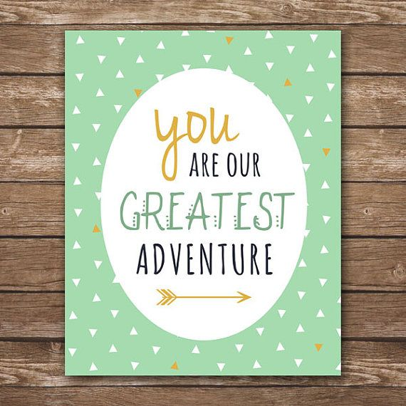 Instant download you are our greatest adventure printable wall art m2m caden lane gold and mint aztec bedding digital 8x10