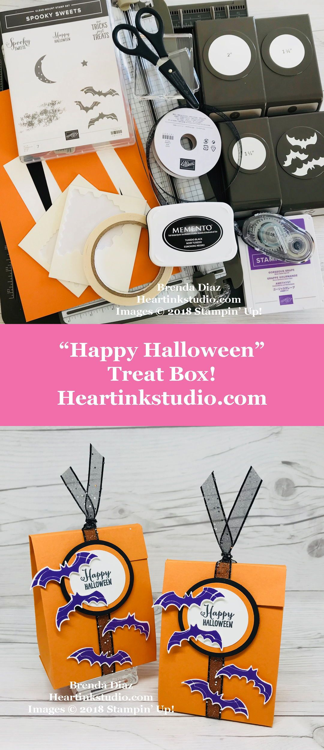 Happy Halloween Treat Box Featuring Spooky Sweets And