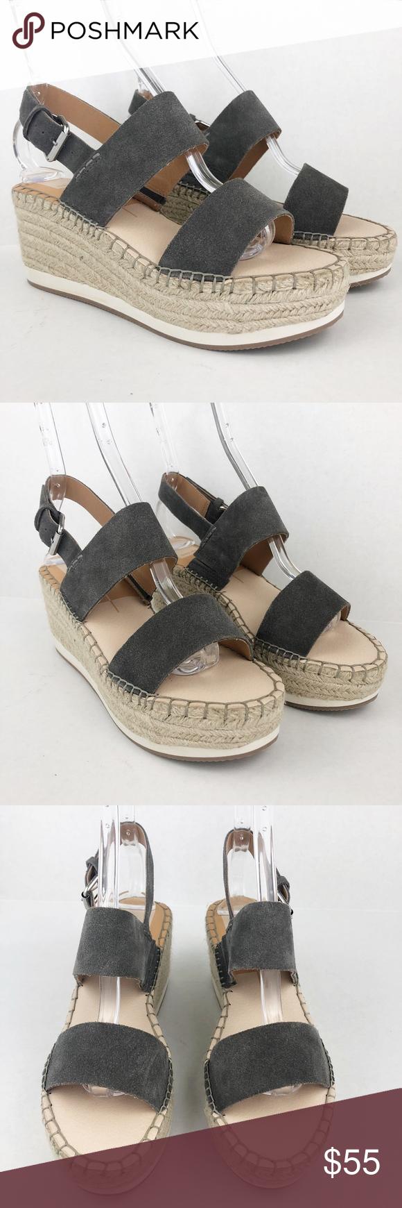 dolce vita lia suede wedge sandal