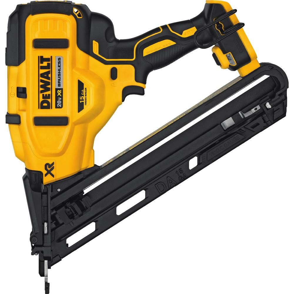 Dewalt 20 Volt Max Xr Lithium Ion Cordless 15 Gauge Angled Finish Nailer Tool Only In 2020 Finish Nailer Tools Installing Hardwood Floors