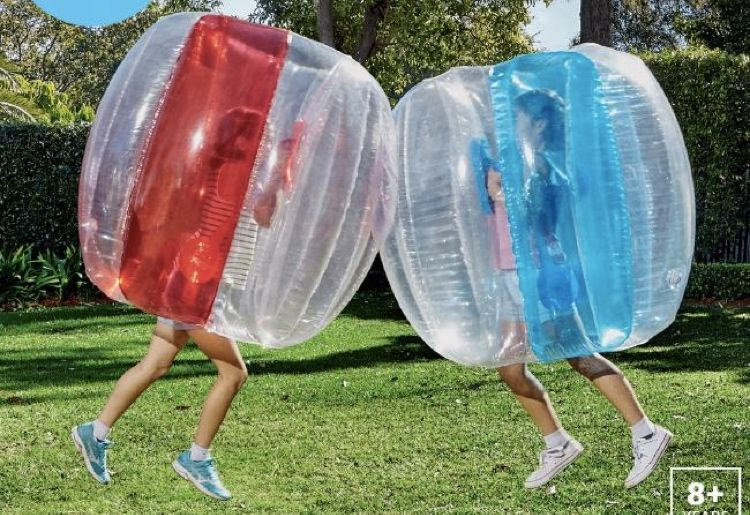Popular Aldi Inflatable Bubble Ball Is One Big Giant Balls Up Giant Inflatable Giant Bubbles Bubbles