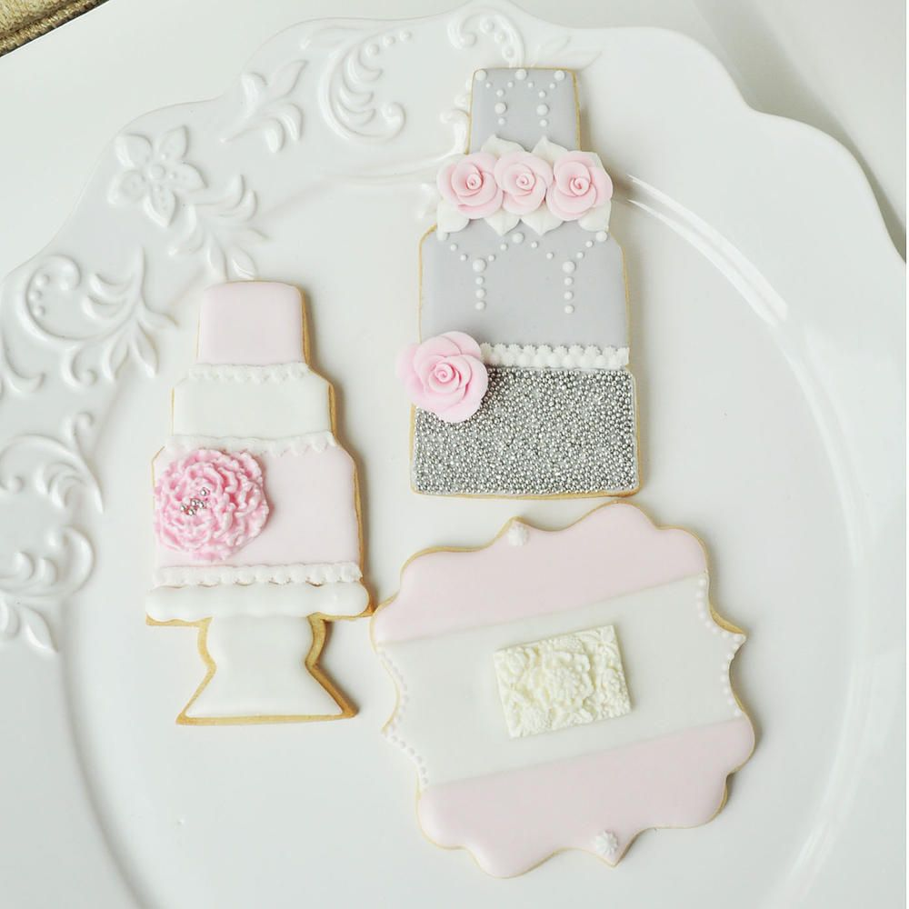 Wedding Cake Cookies Plaque Cookie
