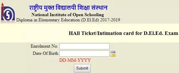 Nios Deled 2nd Exam 2018 Admit Card Released Download Hall Ticket A Plus Topper Nioshallticket2018 Niosdeledresult201 Elementary Education Elementary Exam