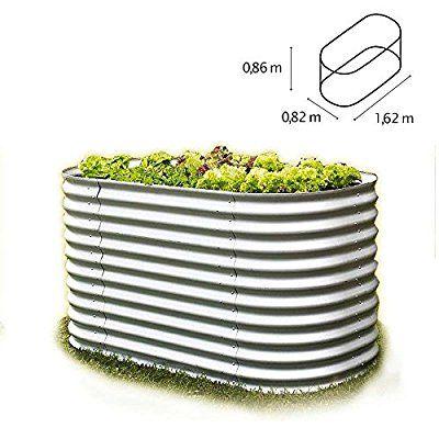 Hochbeet Aluminium Grau 162 X 82 X 86 Cm Oval Bausatz Aus Metall Blech Von Gartenpirat Hochbeet Au Hochbeet Aus Metall Metall Hochbeet