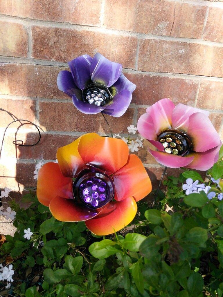 Poppy flower stake garden art poppy strong metal yard art flower - Metal Flowers Colorful Poppy Flowers Metal Art Metal Garden Stakes By Gardendreamsdecor