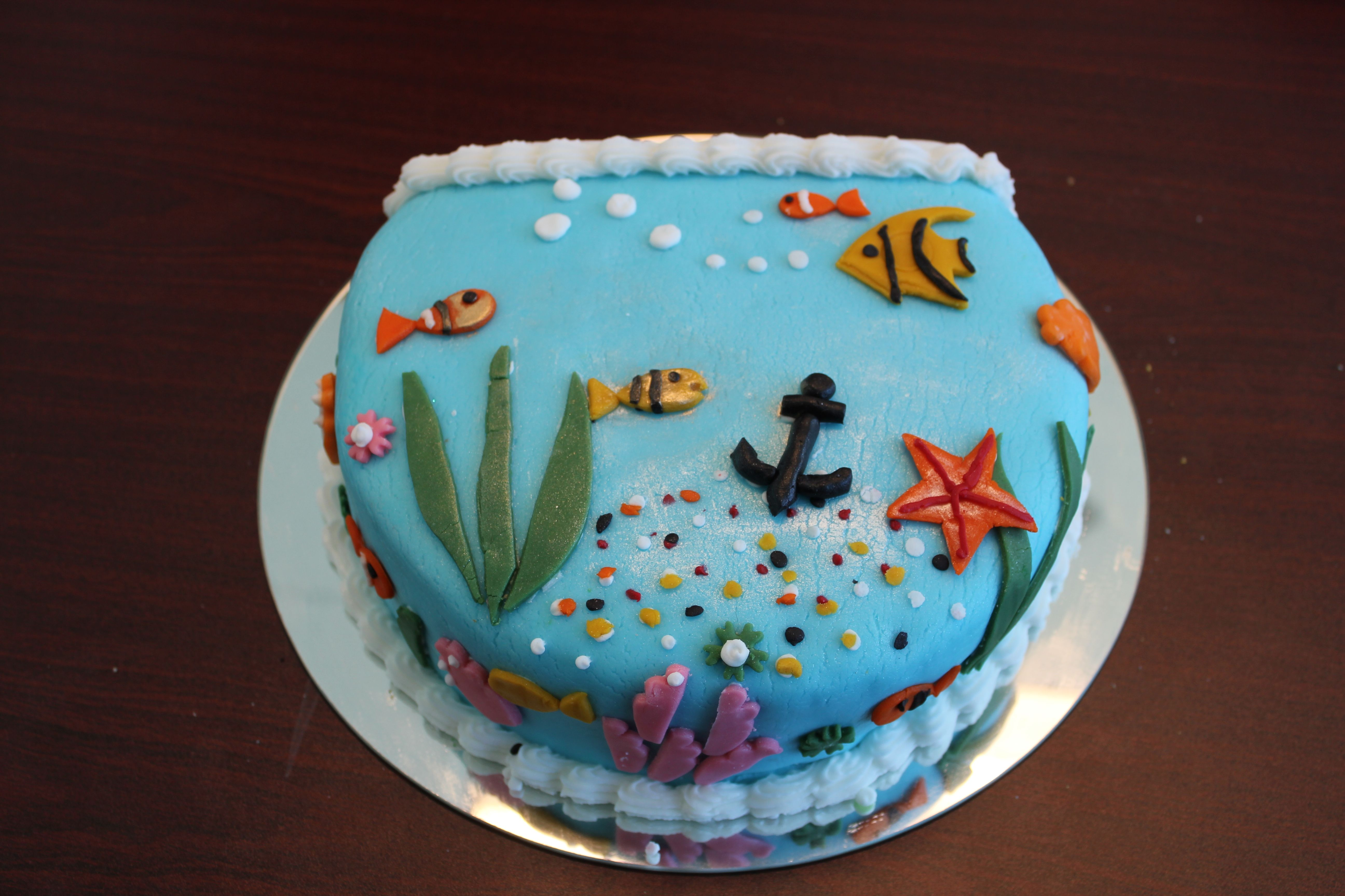 Fish Bowl Cake Made By Yours Truly Cupcakes And Cakes