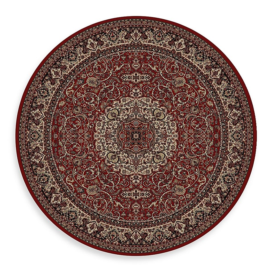 Concord Global Trading Isfahan Red 63 Round Rug Red Rugs Round