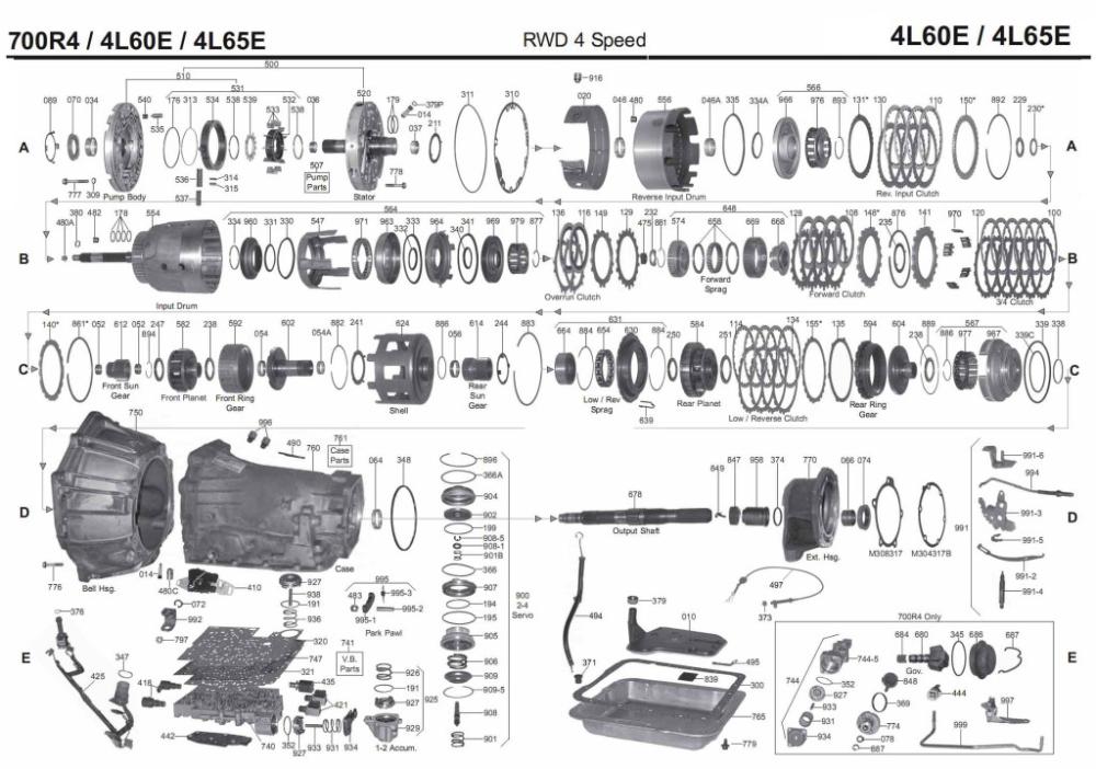 4L60E transmission rebuild manuals (700R4 in 2020