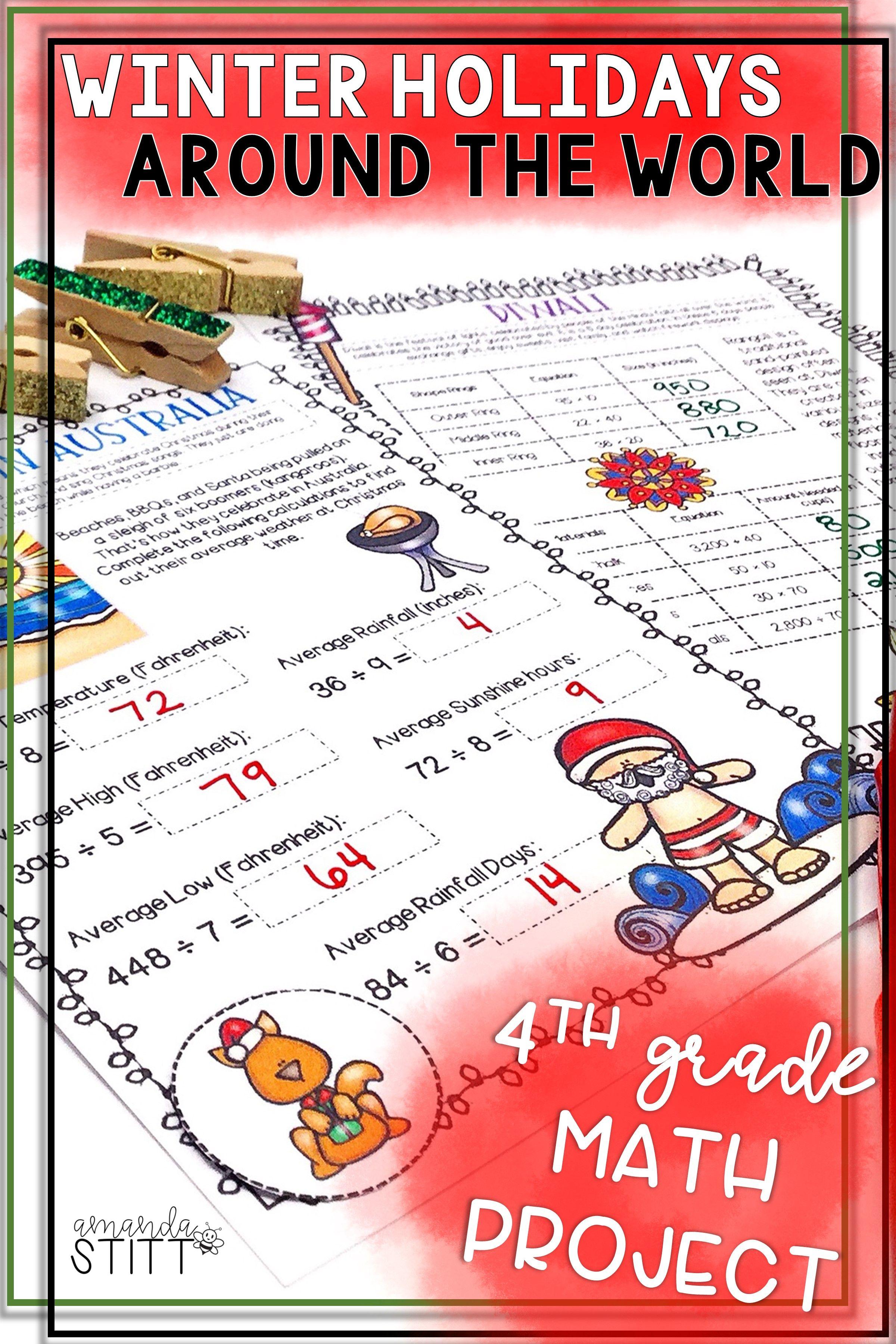 Winter Holidays Around The World Math