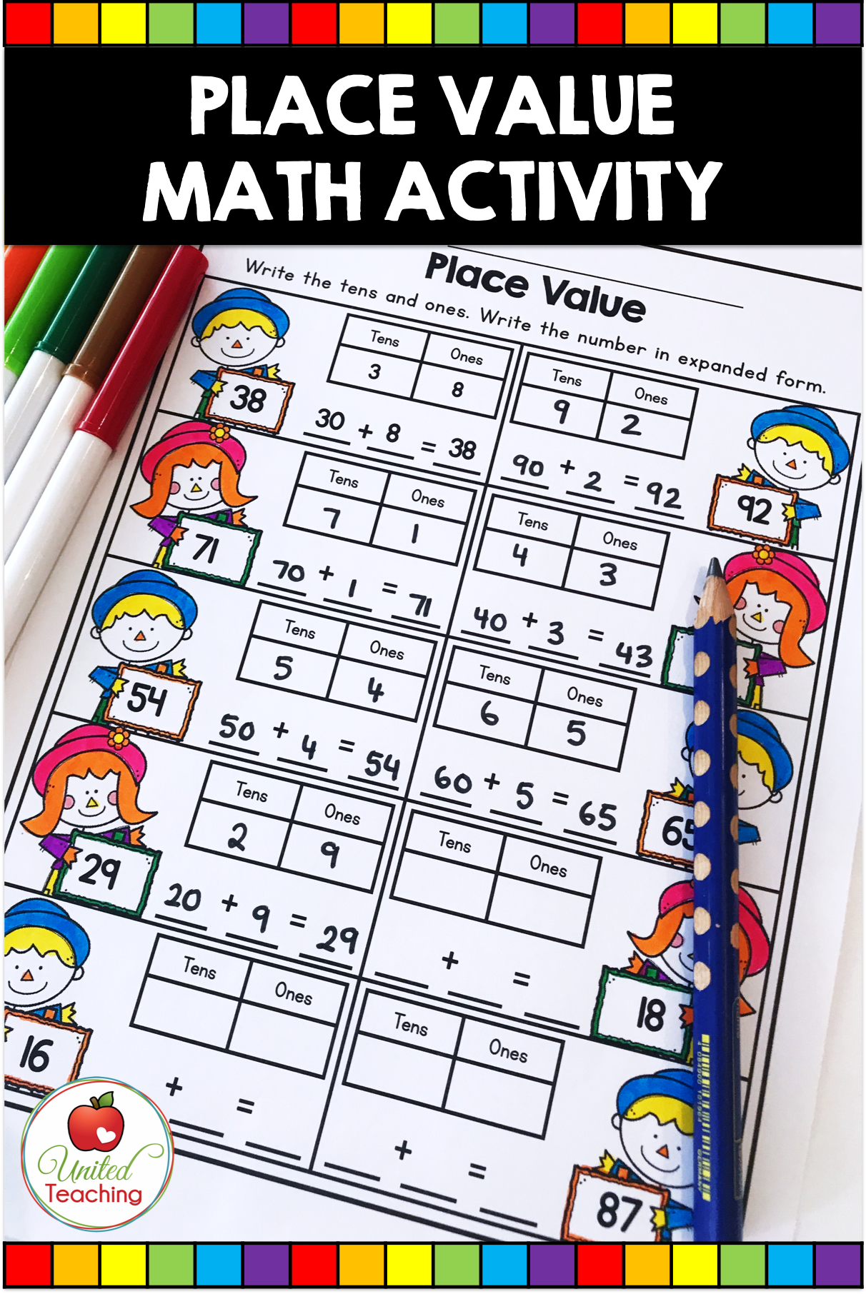Fall Math Activities 1st Grade With Images