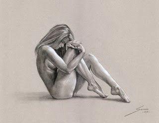 Pintura y Fotografía Artística : Dibujos profesionales de mujeres a lápiz de desnudos de cuerpo completo