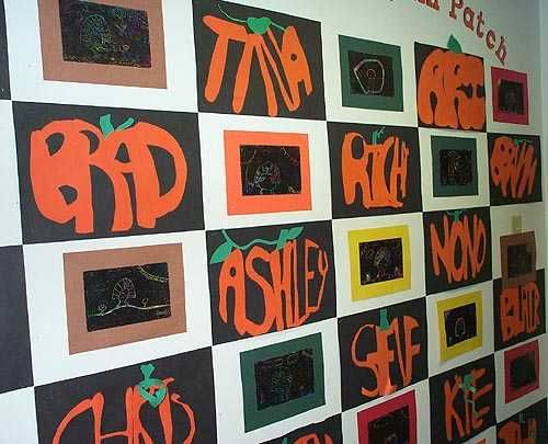 Students Make The Letters To Form Their Names Within A