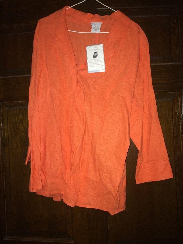 Women's XL Long Sleeved Shirt Button Down New | eBay