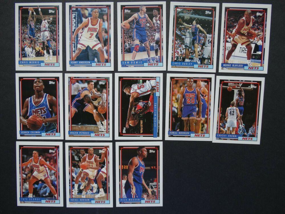199293 topps new jersey nets team set of 13 basketball