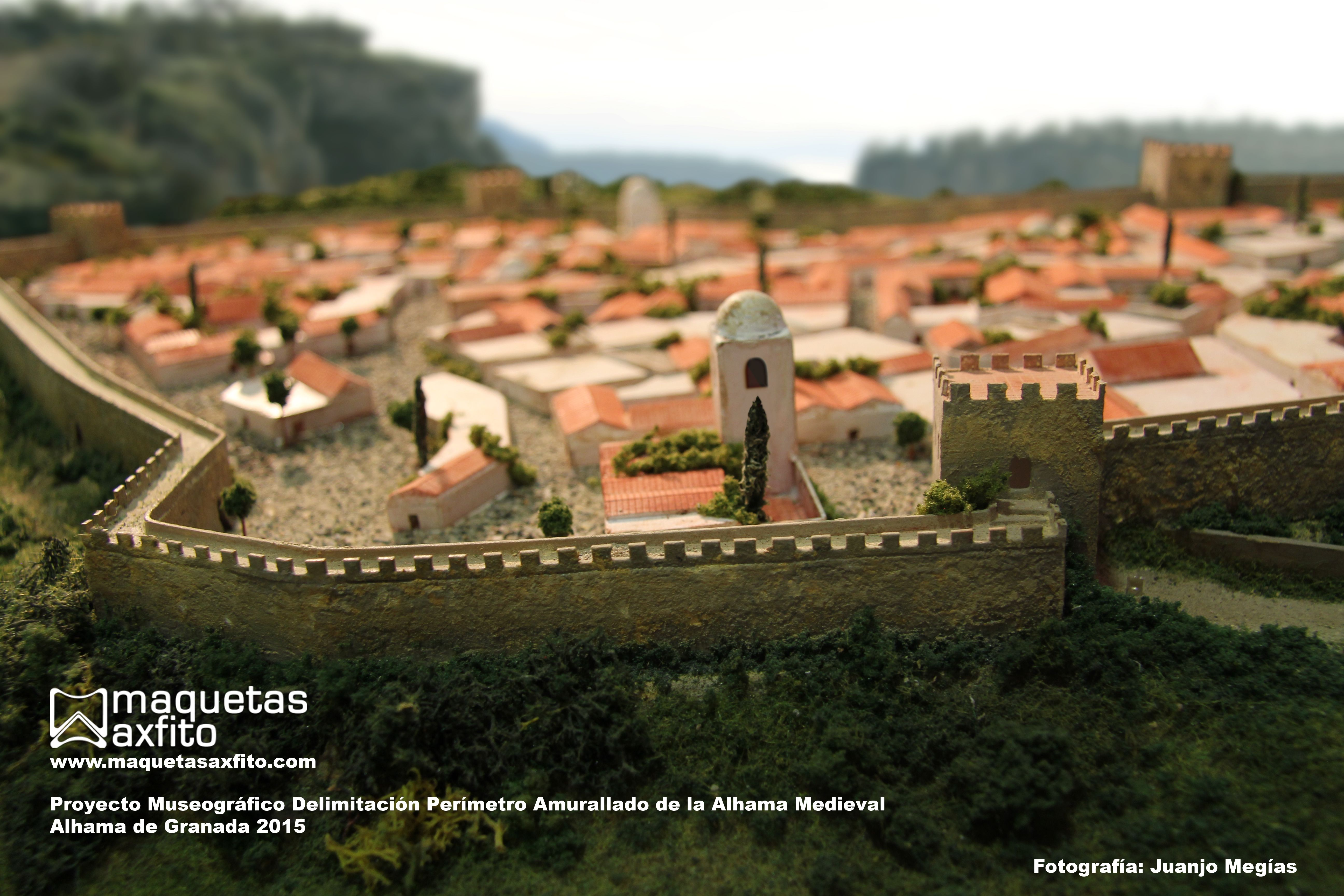 scale model Alhama de Granada Medieval andalusien   1:500