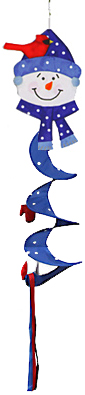 Blue Snowman Wind Twister Just For Fun Flags Windsocks Wind Sock Christmas Decorationg Inexpensive Christmas