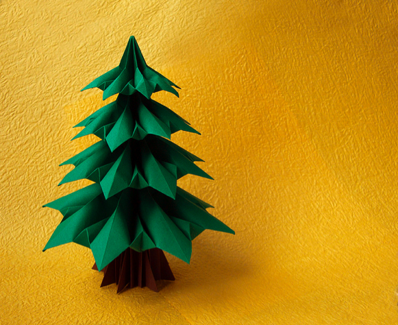 Darkroom And Dearly 12th Day Of Christmas Origami Tree Origami Christmas Tree Christmas Origami Origami Box Diy
