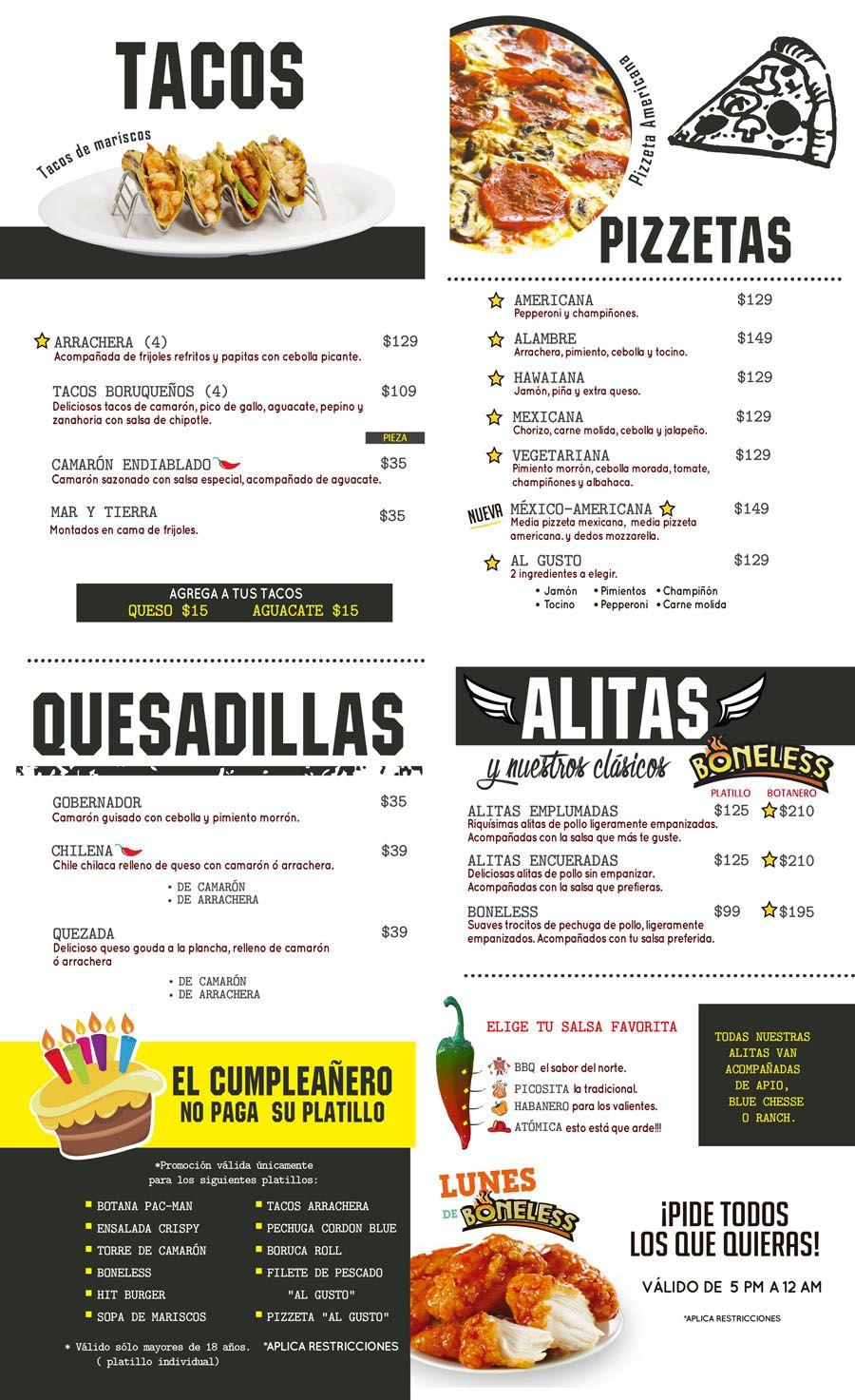 Boruca Monclova Restaurantes De Comida Menú De Comidas Carritos De Comida