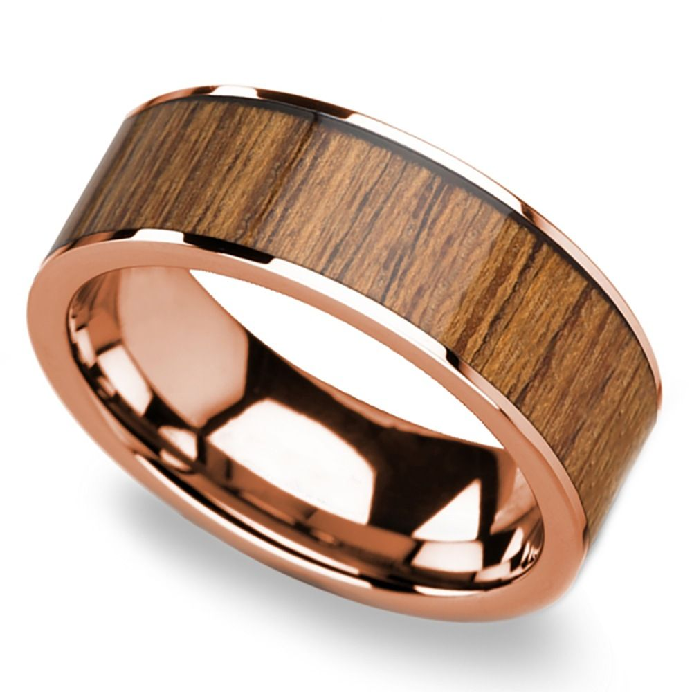 out rings with tungsten teak ash check this in beveled inlay pin ring our wood up matched