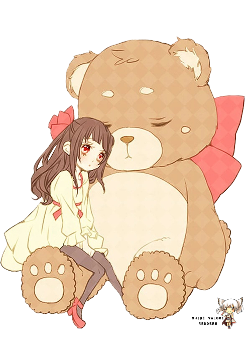 Teddy Bear Anime Girl : teddy, anime, Anime, Picture, Child,, Teddy, Drawing,, Chibi