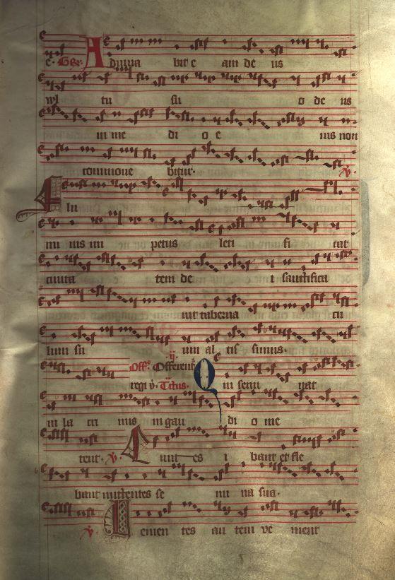 Moosburger Graduale um 1360 Moosburg Cim. 100 (= 2° Cod. ms. 156)  Folio 51