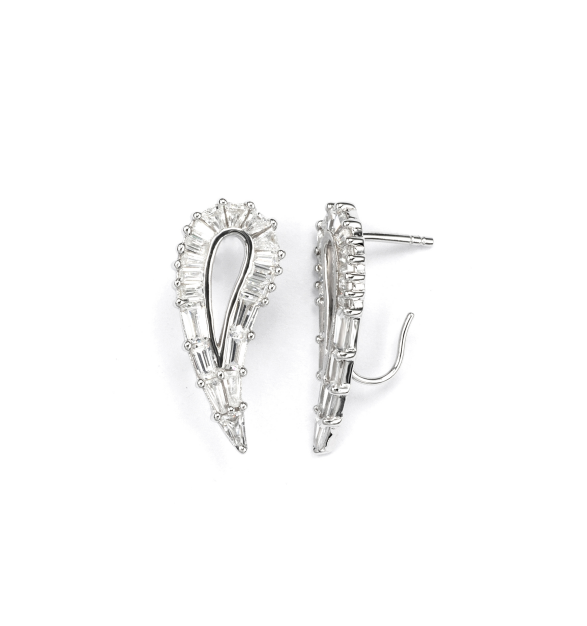V Jewellery Simplicity Hollow Lobe Earrings