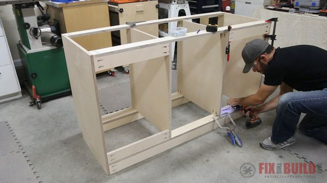 How To Build A Base Cabinet With Drawers Building