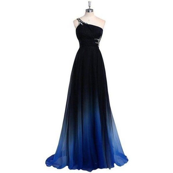 43f42c129a9 Lovelybride Women s Prom Dress Gradient One Shoulder Long Chiffon ...