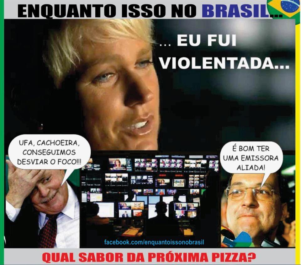Brasil-Corrupção-2012-Charge-Enquanto isso no Brasil... Eu fui violentada...