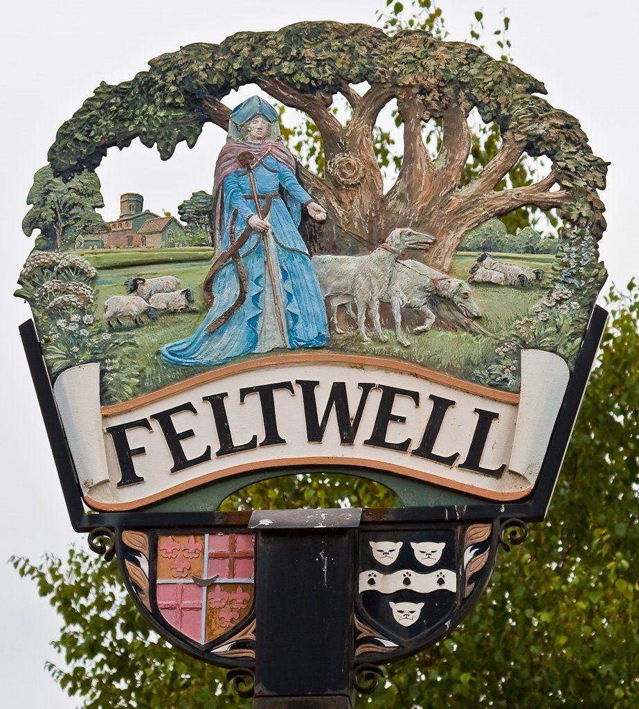 Village of Feltwell in Suffolk, UK near RAF Feltwell