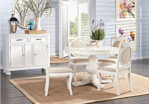 Kitchen table I want from Rooms to go... Emory Heights White 5Pc ...