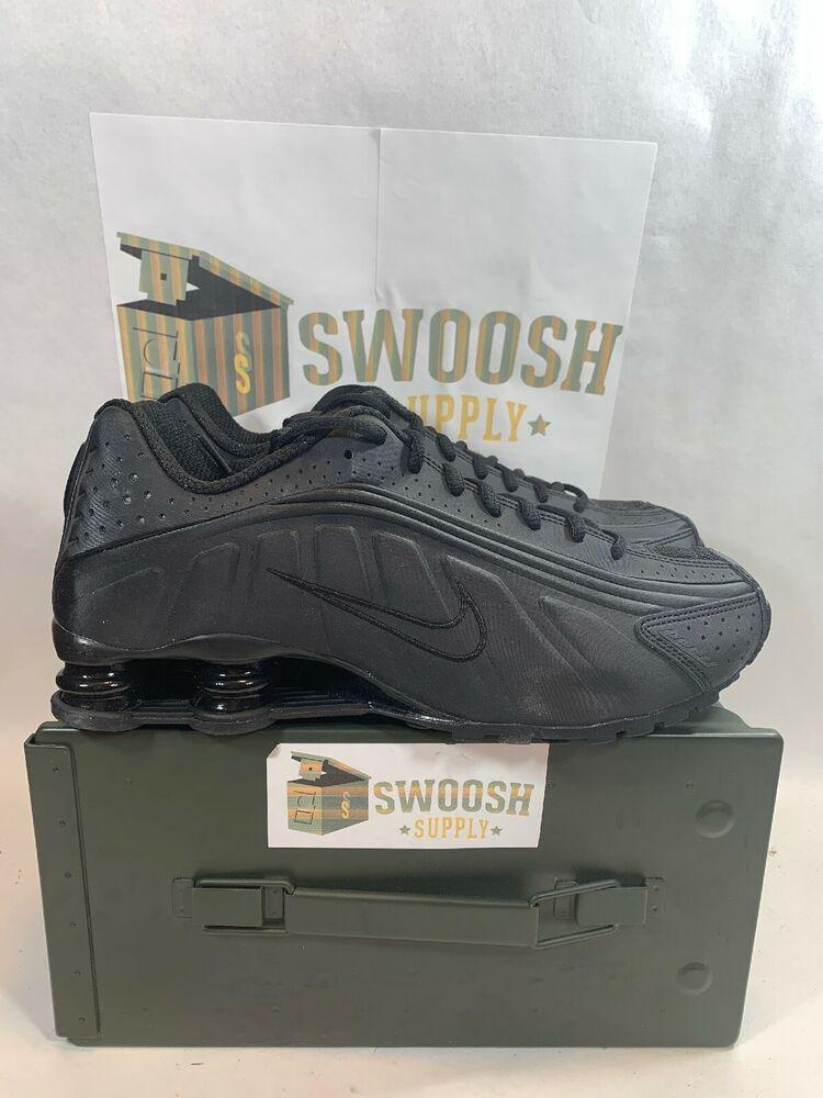 c2729b0cf593c Nike Shox R4 Size 9.5 Black Black Black Triple Black BV1111 001 New #Nike  #AthleticSneakers