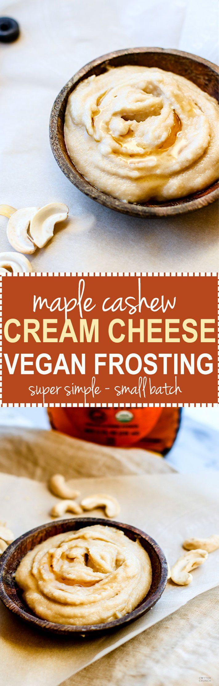 Maple Cashew Cream Cheese Frosting