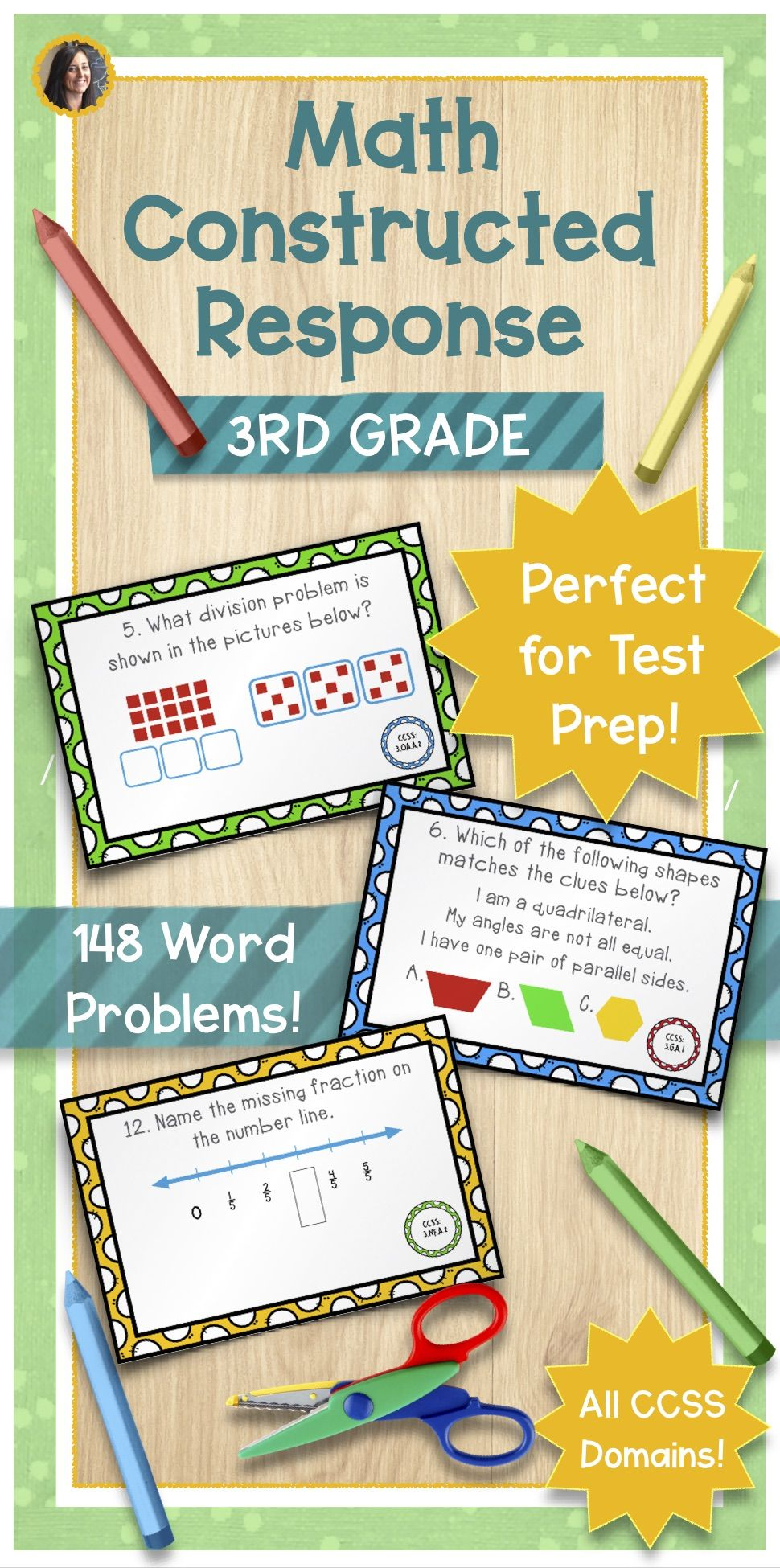 These constructed response word problems are perfect for 3rd grade ...