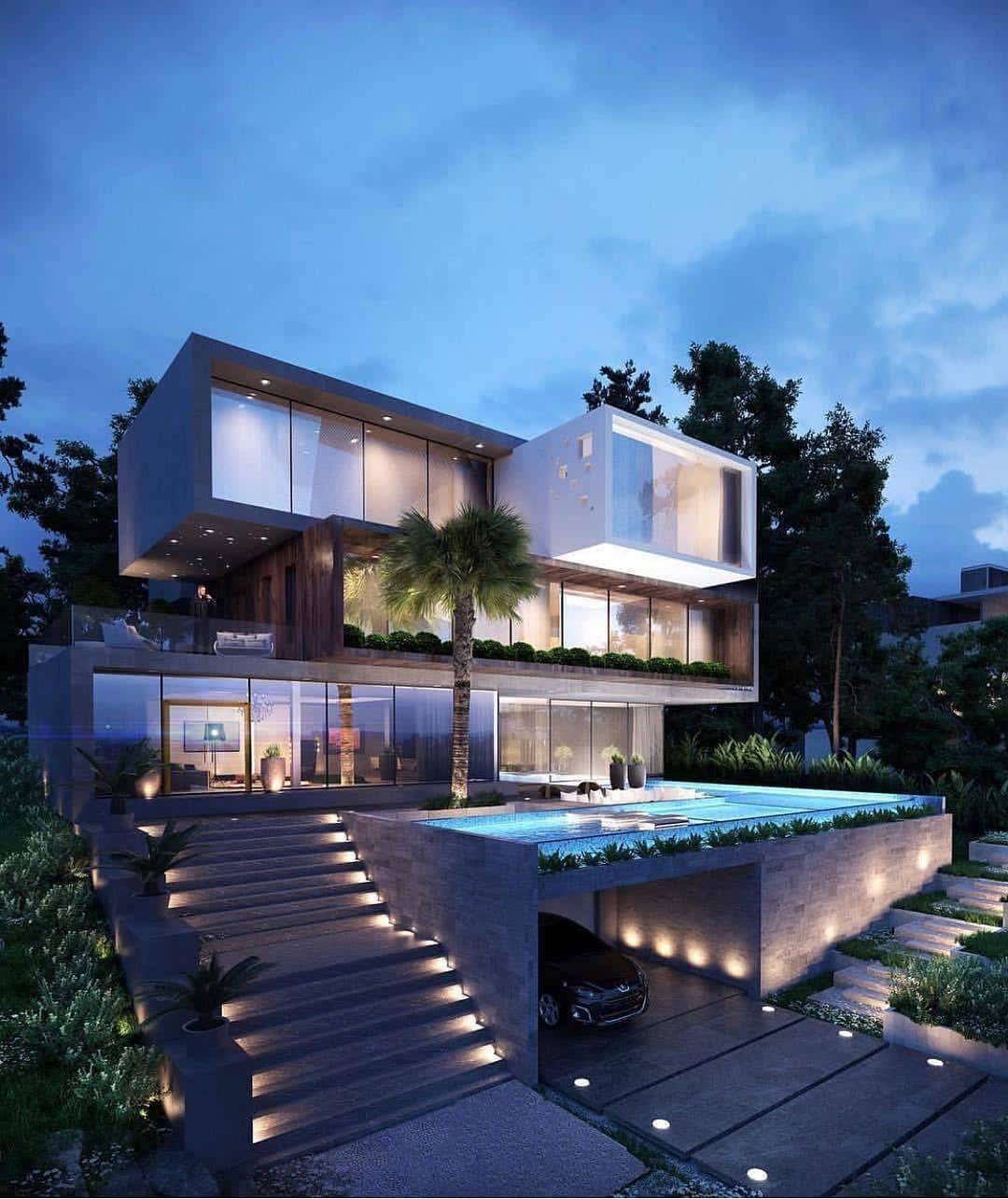 "нoмeѕ🏡ᴍᴀɴsɪᴏɴs🏘 ʜᴏᴜsᴇs🏠 on Instagram: ""I love this modern design🔝😍Do you like it⁉ Yes ore No? Via @fanciest.architecture"" – Modern Dream Hause"