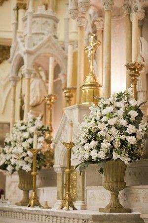 Altar Flowers For A Church Wedding Church Flowers Large Flower Arrangements Large Floral Arrangements