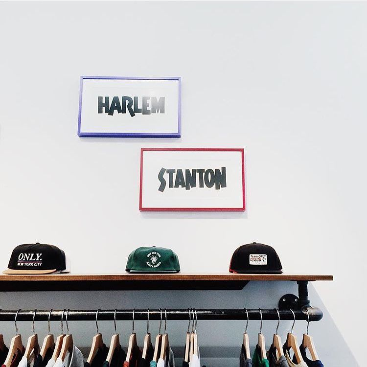 """""""@onlynystore 176 Stanton Flagship store open today till 7pm! Full new range available.  @lauoneil www.onlyny.com"""""""