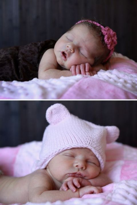 This photography series teaches parents how to take diy newborn photos in their own home