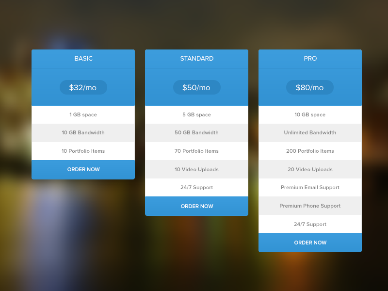Pricing Table Free Psd  Pricing Table And Ui Ux