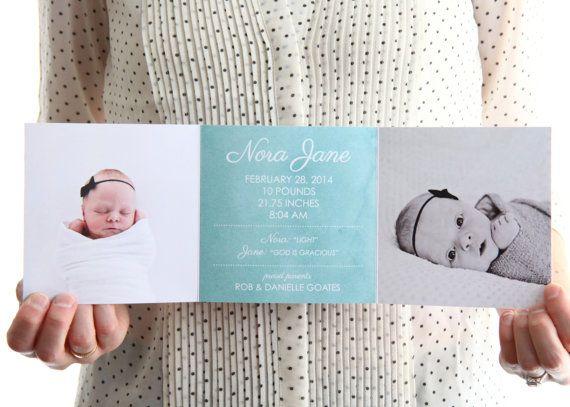 birth announcement ideas Trifold Birth Announcement with – Tri Fold Birth Announcement