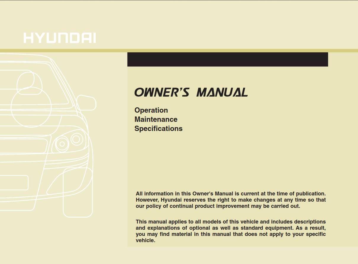 Owners Manual Hyundai Sonata 2013