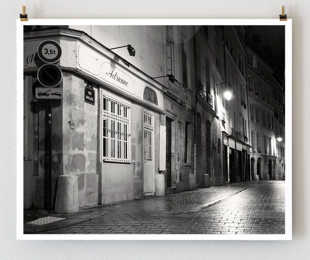 Paris Photography Rue Bailleul Paris Rain 8x10 French Art Prints