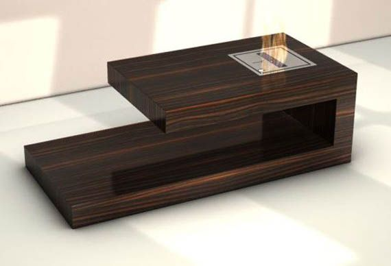 Wooden Coffee Table Design With Fireplace Wooden Coffee Table