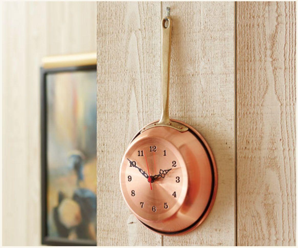 Copper Kitchen Clock Napastyle