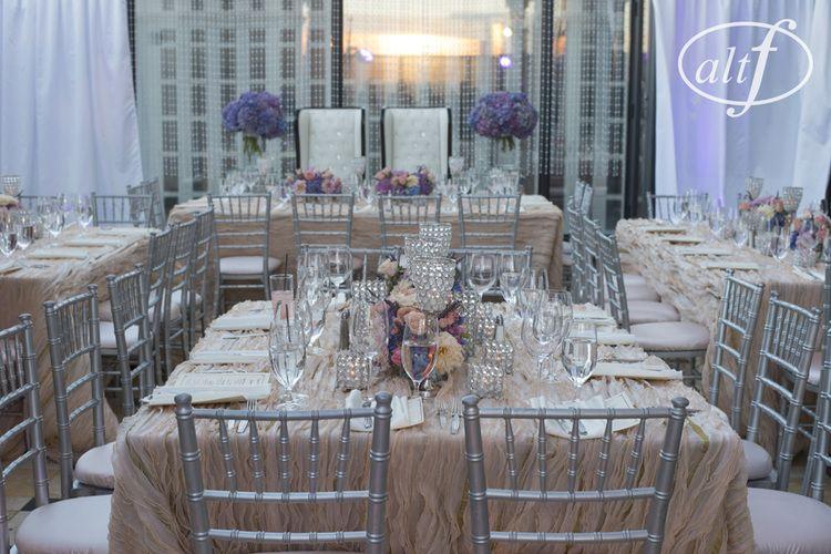 Blush, pink, and purple wedding in Las Vegas  Las Vegas Wedding Planner Andrea Eppolito Venue: Caesars Palace Decor: Naakiti Floral Photo: www.altf.com