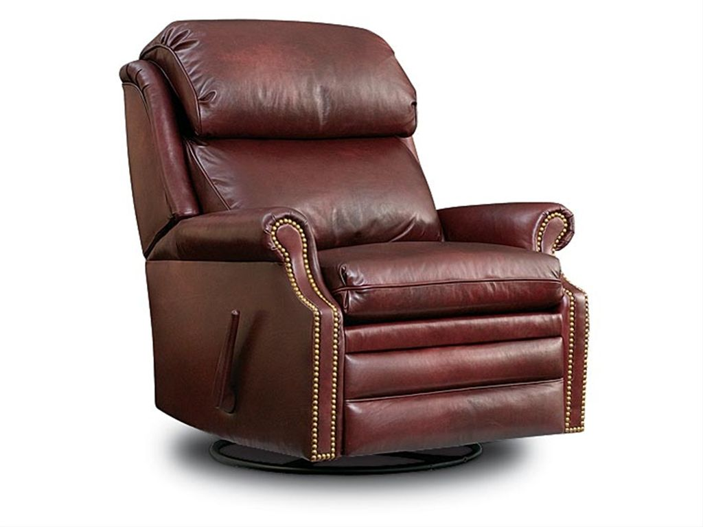 Leathercraft Furniture Living Room Swivel Rocker Recliner 3187SR   The  Village Shoppe   Yakima, WA